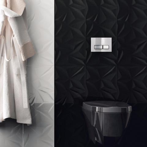 fracture fa ence mur 30x80 noir brillant structur. Black Bedroom Furniture Sets. Home Design Ideas