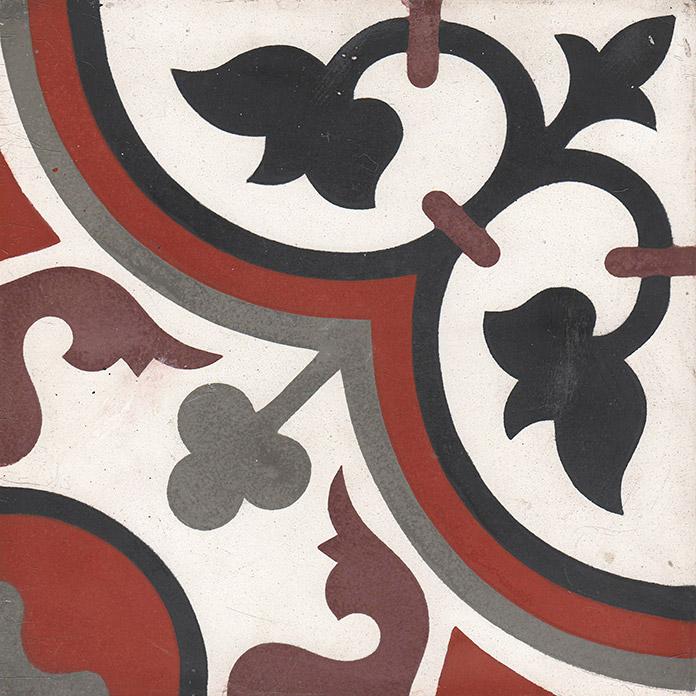 aliso carreaux de ciment 20 x 20 rouge gris carra france. Black Bedroom Furniture Sets. Home Design Ideas