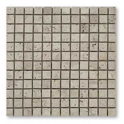 CLASSIC, mosaïque en travertin pierre naturelle 23x23 mm,BEIGE