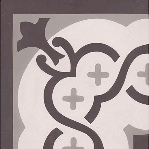 roma corner carreaux de ciment 20 x 20 gris carra france. Black Bedroom Furniture Sets. Home Design Ideas