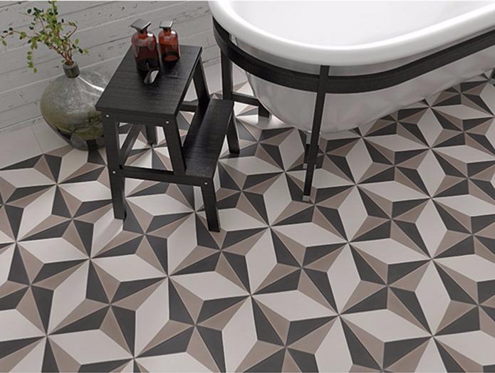 Contempo carreaux de ciment 20 x 20 gris clair carra france - Acheter carreaux de ciment ...