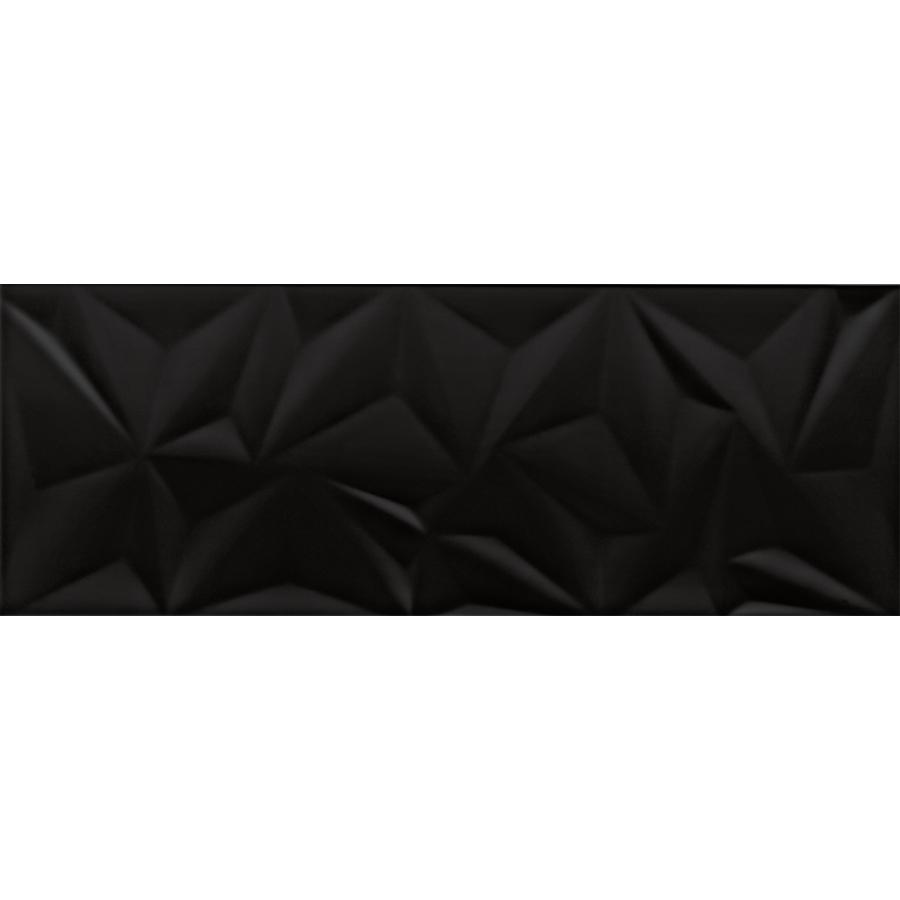 Nettoyage Carrelage Avec Relief fracture, faïence mur 30x80, noir brillant , structuré