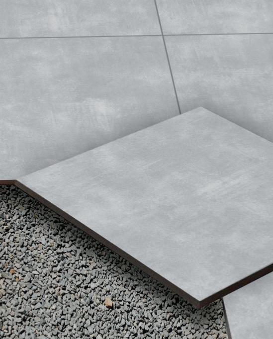 dalle streetline beton carrelage ext rieur 2 cm gris effet b ton carra france. Black Bedroom Furniture Sets. Home Design Ideas