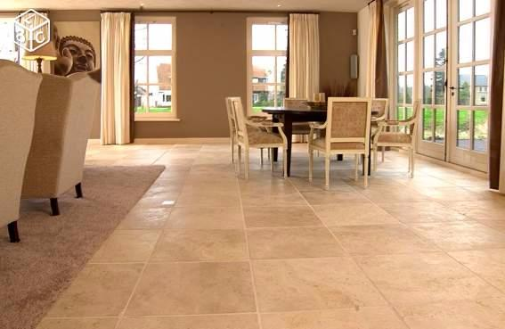 Classic light travertin carrelage pierre naturelle for Carrelage interieur pierre