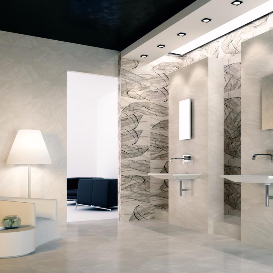 Saba fa ence mur 30x60 blanc contemporain for Carrelage blanc brillant 30x60