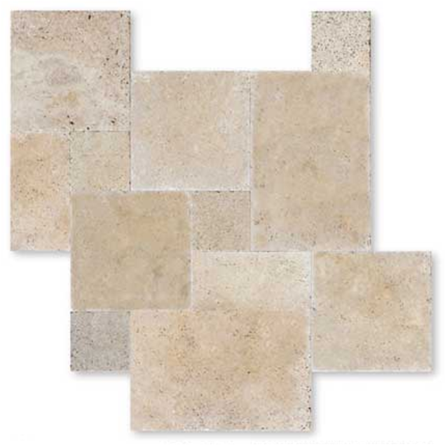 Travertin carrelage pierre naturelle int rieur beige for Carrelage opus romain