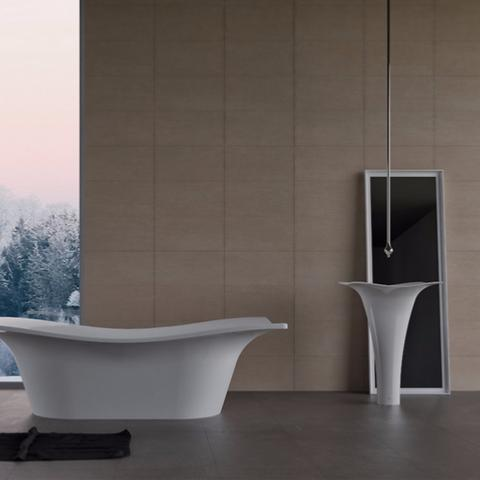 concept carrelage int rieur sol et mur 30x60 beige effet b ton. Black Bedroom Furniture Sets. Home Design Ideas