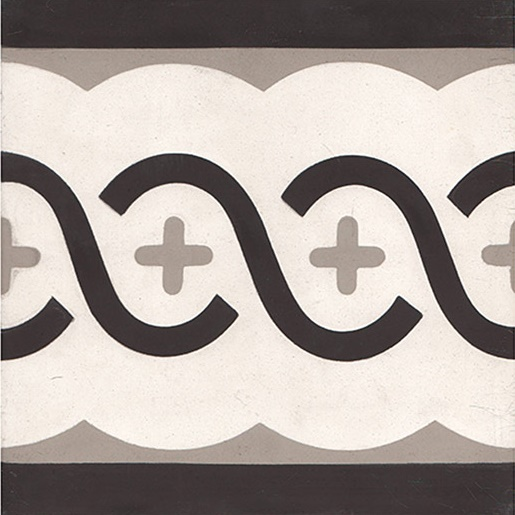 roma border carreaux de ciment 20 x 20 gris carra france. Black Bedroom Furniture Sets. Home Design Ideas