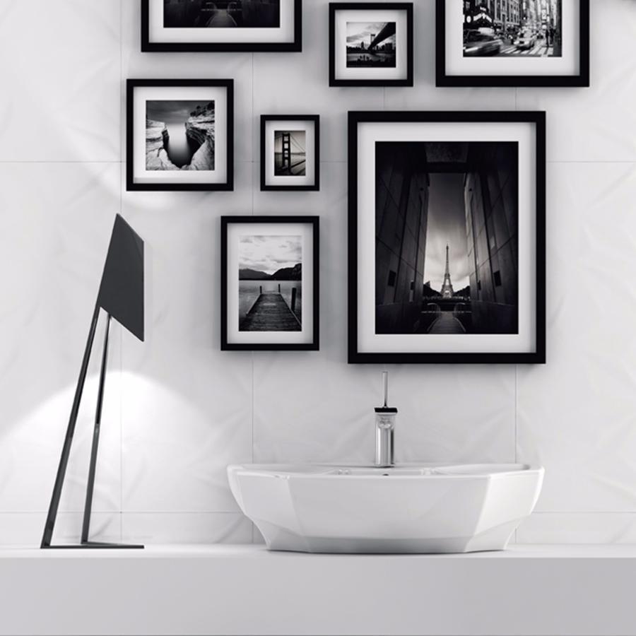 FRACTURE, faïence mur 30x80, BLANC BRILLANT, structuré