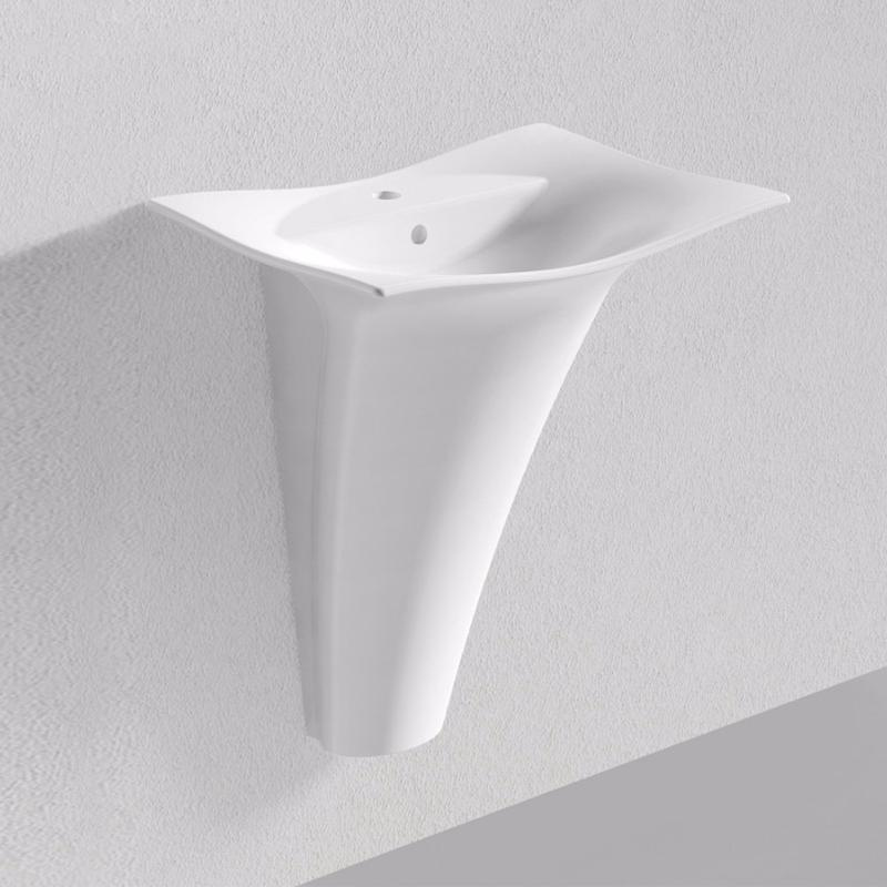 lotus vasque colonne suspendre blanc carra france. Black Bedroom Furniture Sets. Home Design Ideas
