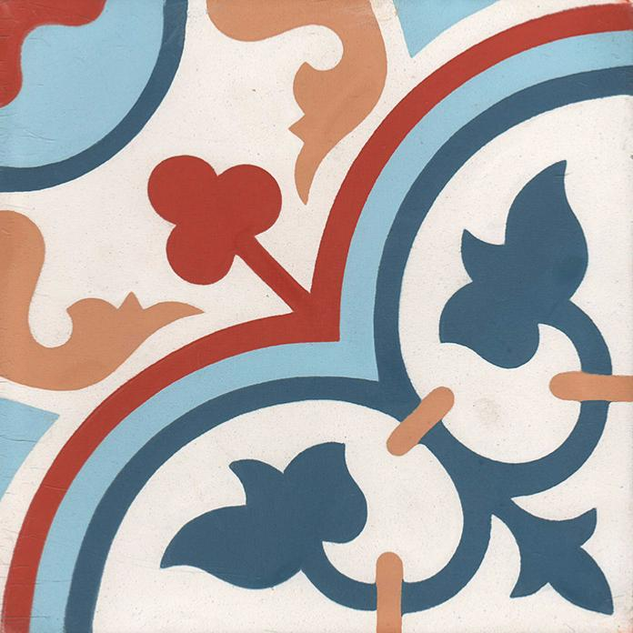 aliso carreaux de ciment 20 x 20 bleu rouge carra. Black Bedroom Furniture Sets. Home Design Ideas
