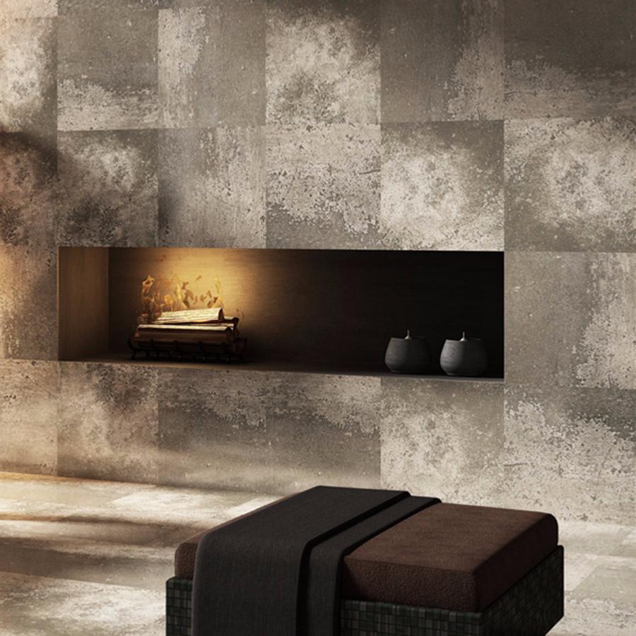 Beton carrelage sol et mur 30x60 gris fonce effet b ton for Carrelage sol et mur
