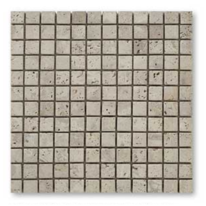 classic,mosaïque en travertin pierre naturelle 23x23 mm,beige