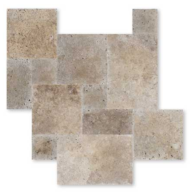 Carrelage travertin pierre naturelle int rieur beige 1er for Acheter carrelage salle de bain