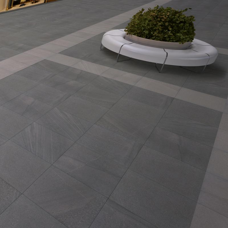 Dalle pietra carrelage ext rieur 2 cm gris anthracite for Pose carrelage exterieur sur plots