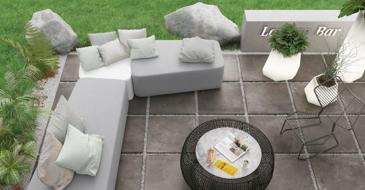 Dalle fusion piombo carrelage ext rieur 2 cm gris for Epaisseur mini dalle beton exterieur