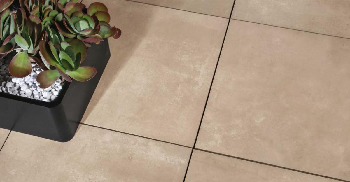 dalle fusion tortora carrelage ext rieur 2 cm beige effet b ton carra france. Black Bedroom Furniture Sets. Home Design Ideas
