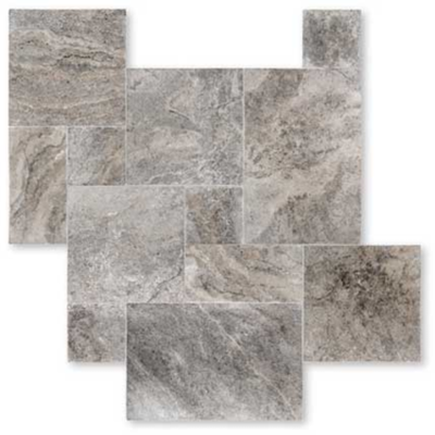 Silver carrelage travertin pierre naturelle int rieur for Carrelage pierre naturelle interieur