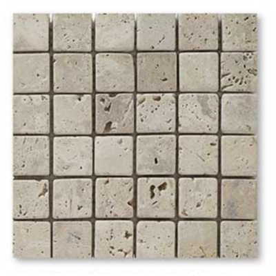 CLASSIC, mosaïque en travertin pierre naturelle 48x48 mm,BEIGE